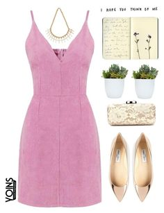 """""""Yoins 57"""" by mihreta-m ❤ liked on Polyvore featuring Jimmy Choo, Moleskine and yoins"""