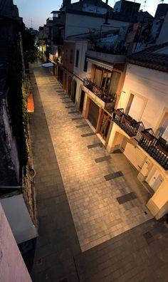 Plaza y calle en Vilassar de Mar