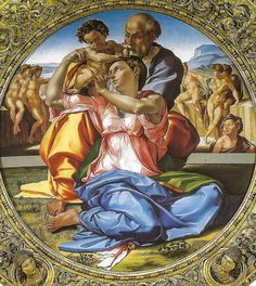Michelangelo - Doni Tondo (Holy Family with the infant St John the Baptist) at Uffizi Gallery Florence Italy | by mbell1975