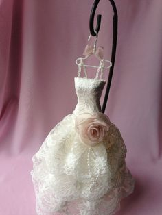 9 Paper Mache Doll Art Dress ivory lace by IsabellaRoseDream