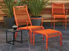 Plummers - Lightweight, stylish and comfortable. Made to weather the elements with a durable aluminum frame, powder-coated in your choice of white, green, pink and vibrant orange. Stool sold separately. Sold out in Washington, Oregon and Colorado.