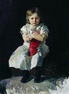 Ярошенко Николай «Девочка с куклой» Вторая половина 1890-х Холст, масло 96х68,5 Государственная Третьяковская галерея