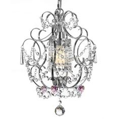 Gallery Chrome/ Crystal Pink Heart Chandelier | Overstock.com Shopping - Great Deals on Chandeliers & Pendants