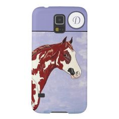 Monogrammed Overo Paint Horse Head - Samsung Galaxy 5 Case. Available in many other Phone case options!