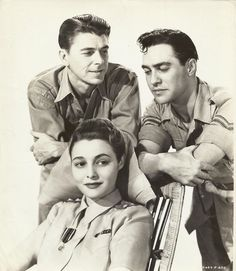 Ronald Reagan, Patricia Neal and Richard Todd in The Hasty Heart with Ronald Reagan, Howard Marion-Crawford, Ralph Micha. Vintage Hollywood, Classic Hollywood, Sands Of Iwo Jima, Richard Todd, 40th President, Patricia Neal, Governor Of California, William Faulkner, Movie Magazine