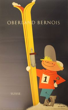 Poster by Eid Hauri / Oberland Bernois Suisse / 1950s