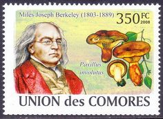 Comores Stamp Miles Joseph Berkeley founders of the science of plant pathology
