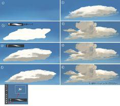 プロが教える『雲の描き方』がとても分かりやすいと好評「雲を描く時も遠近法が効く」 - Togetterまとめ