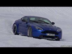 ▶ Aston Martin V12 Vantage S Drifting on Ice - YouTube