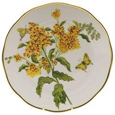 Herend American Wildflowers Butterfly Weed Dinner Plate