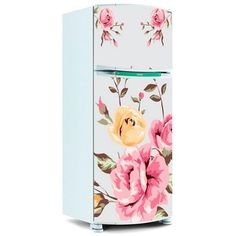 Adesivo para Envelopamento de Geladeira Porta - Floral 12 Mais