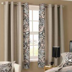 New bedroom curtains cortinas modernas 70 Ideas Curtain Designs For Bedroom, Window Curtain Designs, Small Window Curtains, Curtain Styles, Home Curtains, Curtains Living, Curtain Ideas, Small Windows, Drapery Ideas
