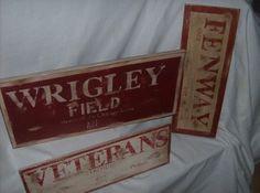 Vintage look sports stadium sign