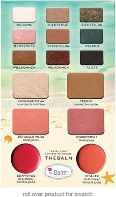 The Balm Voyage Volume 2 Face Palette never fails to please! Nine gorgeous eyeshadow shades that can be used wet or dry, a luminous highlighter, two blushes along with a bronzer, and two gorgeous lips Kiss Makeup, Beauty Makeup, Hair Makeup, Face Palette, Makeup Palette, Beauty Book, Make Up Collection, Makeup Techniques, Makeup Inspo