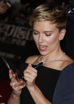Scarlett Johansson proved to be in great spirits as she attended the press conference ahead of her upcoming flick Ghost In The Shell at the Grand Intercontinental Hotel in Seoul, South Korea on Friday. 3/17/2017