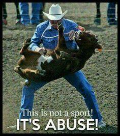 This makes me sick.......I hope me feels like a big tough cowboy now.