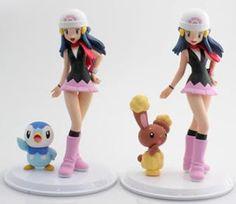 pokemon may figure Cool Pokemon Cards, Cute Pokemon, Female Pokemon Trainers, Pokemon Pearl, Ash And Dawn, Pokemon Plush, Anime Figurines, Anime Merchandise, Anime Costumes