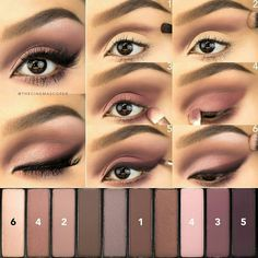 L'Oréal Makeup LA Pallette Nude 2 eyeshadow look