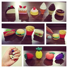 My mini food eraser collection