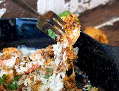 Crispy cheesy baked shrimp