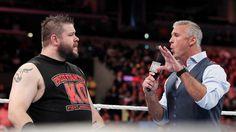 Kevin Owens interrupts Shane McMahon: photos Roman Reigns, The Rock, Wwe, Shane Mcmahon, Kevin Owens, Tank Man, Photos, Mens Tops, Hipster Stuff