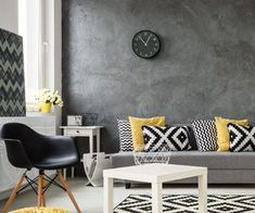 Laadukkaat ikkunat luovat ihanan valon tähän värikkääseen olohuoneeseen. 😊  #window #ikkunat #home #livingroom #house #inspiration #decor Yellow Clocks, Wall Clock Gift, Wood Clocks, Large Clock, Wall Colors, Interior Inspiration, Wall Decor, Living Room, House