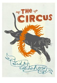 The Circus Side Show ... Awesome illo could make for a nice tattoo for this ink-loving Leo!
