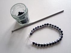 DIY - Bracelet simple en crochet et en perles