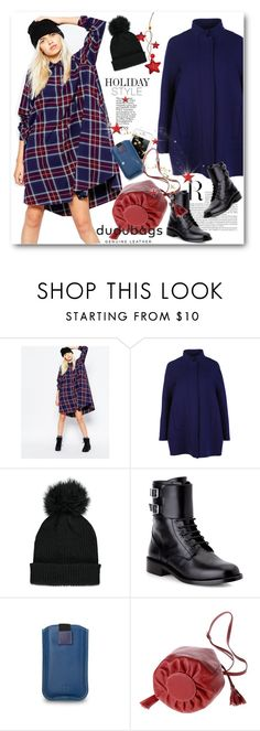 """""""Holiday Style: Oversized Dresses"""" by svijetlana ❤ liked on Polyvore featuring Monki, Gianluca Capannolo, Forever 21, Yves Saint Laurent and DUDU"""