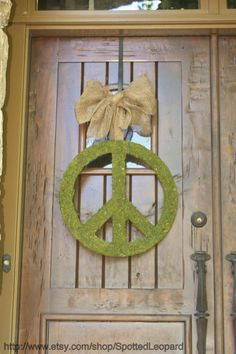 Peace Sign with Ribbon for Door