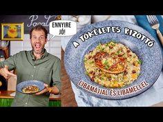 Zé libamájas-sütőtökös rizottója - YouTube Paella, Bread, Street, Ethnic Recipes, Youtube, Beverages, Food, Kitchen, Cooking