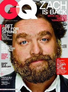 GQ Magazine featuring Zach Galifianakis -- May 2011