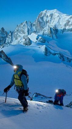 Climbing Mont Blanc.