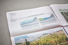 Hiking newspaper on Behance