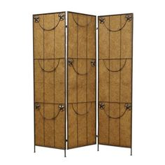 Shop for Lone Star 3-Panel Wood and Metal Screen (China). Get free delivery at Overstock.com - Your Online Home Decor Outlet Store! Get 5% in rewards with Club O!