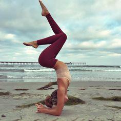 A little off-season beach yoga never hurt anyone.