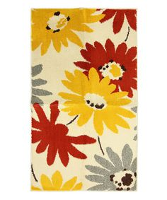 Take a look at this Mohawk Home Exploded Floral Rug by Color Trend: Orange on #zulily today!
