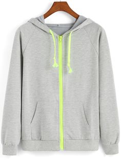15ec6f2bd4c4 SHEIN offers Grey Hooded Long Sleeve Loose Sweatshirt   more to fit your  fashionable needs.