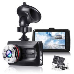 """DohonesBest Dash Cam Dual Lens Rear View Mirror Car Backup Camera Front and Rear 1080P Full HD Video Recorder Car DVR with G-Sensor Motion Detection Loop Recording Parking Mode 4.3/""""140/° Wide View 4350447529"""