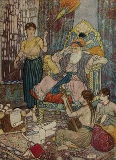 Edmund Dulac Art Illustrations to The Rubaiyat.