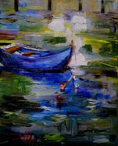 Dinghy No.2, painting by artist Delilah Smith