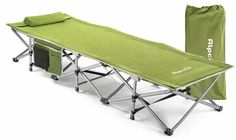 This Alpcour Folding Camping Cot Without Headrest is a Nicely Built Stable and Sturdy Steel Camping Cot Suitable Even for the Heaviest Users. Truck Bed Tent, Tent Cot, Camping With Kids, Go Camping, Cool Tents, Bed In A Bag, Cot Bedding, Sport, Bag Storage