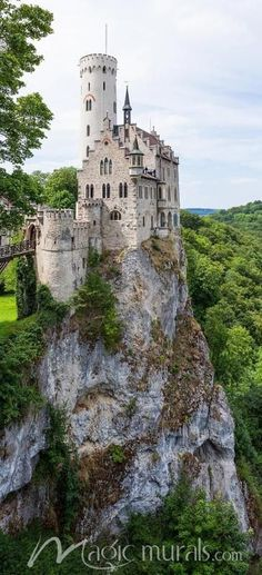 """Lichtenstein Castle is a privately owned tourist attraction built in Gothic Revival style and located in the Swabian Jura of southern Germany. It was designed by Carl Alexander Heideloff and has been described as the """"fairy tale castle of Württemberg Abandoned Castles, Abandoned Places, Beautiful Castles, Beautiful Places, Beautiful Buildings, Places To Travel, Places To See, Travel Destinations, Travel Europe"""