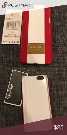 Michael kors iPhone 6 case Red and white Michael Kors case for iPhone 6/6S Michael Kors Accessories Phone Cases