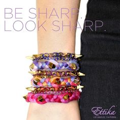 Be Sharp. Look Sharp. #simplyfab #Ettika #spikes #Boho