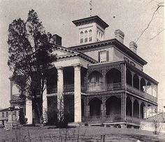 Shipley-Lydecker house in Baltimore, model for the Disneyland Haunted Mansion