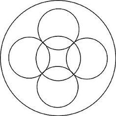 leichte Mandala Vorlage