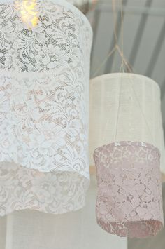 DIY Lace Lanterns, sweet party decor :: Inspiration to Creation Projects                                                                                                                                                                                 More