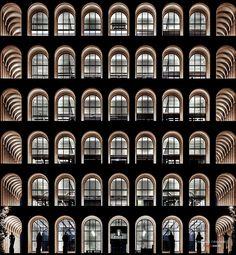 Palazzo della Civiltà Italiana, Colosseo Quadrato by Giovanni Guerrini, Ernesto Bruno La Padula and Mario Romano, 1943, Rome, Italy