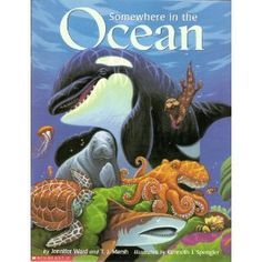 Somewhere in the Ocean. Cute children's book with counting sea animals.
